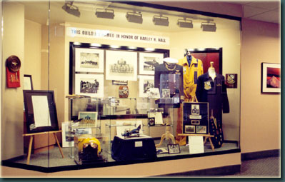 Display Case in Honor of Harley H. Hall